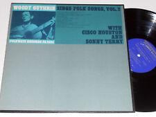 WOODY GUTHRIE CISCO HOUSTON SONNY TERRY NM Folk Songs