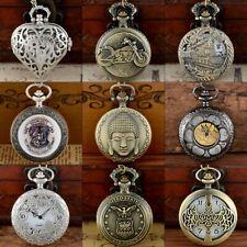 Watch Necklace Pendant Gift Retro Steampunk Quartz Vintage Antique Design Pocket