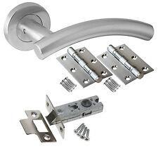 Arched T-Bar Internal Door Handle Sets - Latch Lock Bathroom Door Handles Packs