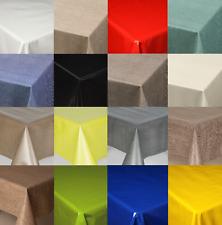 PLAIN LUXURY PVC WIPE CLEAN VINYL TABLE CLOTH MODERN TEXTURED CREAM BLUE RED