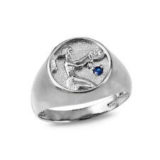 Sterling Silver Virgo Zodiac CZ Ring