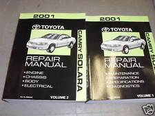 2001 TOYOTA CAMRY SOLARA Service Repair Shop Workshop Manual Set BRAND NEW