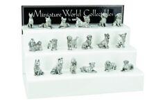 Ganz Miniature Polystone Silver colored Dog Figurines