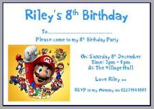 Tarjeta De Papel Fotográfico Personalizado Fiesta invita a Invitaciones Super Mario Brothers #2