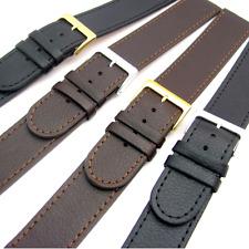 SUPER lungo XXL Cinturino Orologio Vera Pelle 16mm a 24mm Nero o Marrone C023