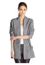 BCBG MAXAZRIA Women Ginata Shawl Oversized Sweater Cardigan Outwear Coat Grey