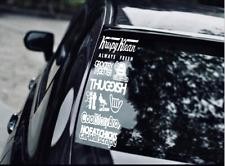 JDM car STICKER DECAL PACK car window Stickers for JDM KDM slammed race drift