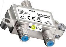 goobay ® Sat Vorrang Schalter verteilt schaltet 1 LNB auf 2 SAT Receiver NEU&OVP