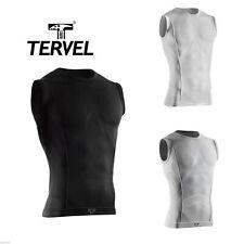 TERVEL COM Herren Funktionsshirt Ärmellos Sport-Shirt Funktionsunterwäsche 1201