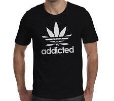 Addicted cannabis Unisex T Shirt Funny hierba marihuana smoke cotidianos Ganja Pot