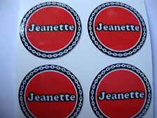 """Jeanette 12 lawn bowls autocollants 1 """"Vert crown bols plat bols vert"""