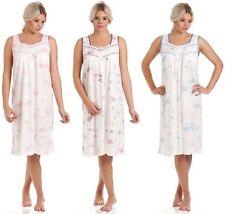 Ladies Lady Olga Jersey Cotton Rich Floral Sleeveless Nightie Nightdress 0103