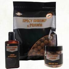 DYNAMITE BAITS SPICY SHRIMP & PRAWN BOILIES, POP UPS & LIQUID ATTRACTANT