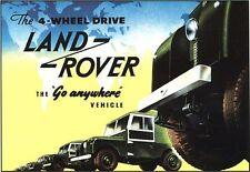 VINTAGE LAND ROVER Pubblicità Poster A3/A2 stampa