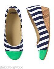 NWT Gymboree Spring Prep Striped Wedge Dress shoes 9,11,12,2 Girls