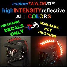 Reflective DECALS For Rubber Helmet Warhawks Dirtbike Motorcross Motorcycles Saw