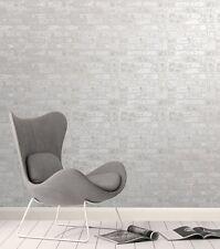 Fine Decor 3D realista ladrillo metálico Panel Loft Ladrillo Blanco/Plateado FD41953