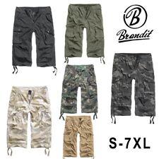 Brandit Uomo Urban Legend 3/4 Shorts Pantaloni Corti Bermuda Cargo NUOVO VINTAGE