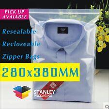 Zip Lock Bags 280X380mm Resealable Ziplock Plastic Bag Recloseable zipper 50UM