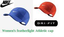 Nike Women's Dri-Fit Court Featherlight Tennis Golf hat cap Orange or Blue, NWT