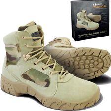 "ARMY 6"" TACTICAL PRO BOOTS SIDE ZIP MENS UK 6 - 12 MTP CAMOUFLAGE BIKER FOOTWEAR"