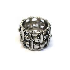 Men's Stainless Steel Interwoven Cross Ring, Big Rings, Metal Gothic Biker SKR16