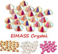 100 x Non Hot Fix Glass Crystals, EIMASS® Grade A Flat Back Rhinestones,Gem,7787