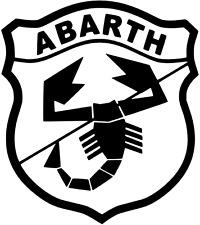ABARTH FIAT 500/Punto/Adesivo/Transfer/Auto/Furgone/Parete/Camera da Letto/finestra/paraurti!!!