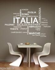 ITALIA Italiana lingua Muro Citazione Vinile Decor Adesivo Decalcomania Murale Stencil