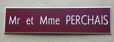 plaque gravée personnalisée porte boite aux lettre 1 ligne Fond LIE VIN 99x25 mm