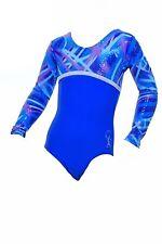 Canberra Long Sleeved Girls / Ladies / Gym / Dance /Gymnastic/Leotard blue&multi