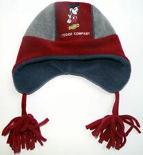 Neu! Disney Mickey Mouse Fleecemütze Winter-Mütze Ohrenschutz rot Gr.49 51 53