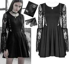 Robe patineuse gothique lolita baroque victorien dentelle bretelles été PunkRave