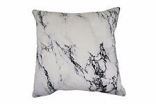 100% Cotton Cushion - White Marble 45 x 45 cm