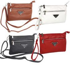 Kleine Damen Umhängetasche Schultertasche Crossbody Bag Clutch Handtasche weiß