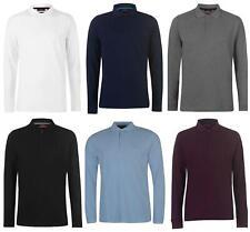 NEW Pierre Cardin Mens Long Sleeve Pure Cotton Polo Shirt Size S M L XL XXL