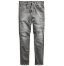 Ralph Lauren Purple Label Slim Fit Faded Grey Stretch Denim Jeans Pants