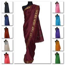 Kamiz Salwar Gr Tunika Hose Tuch 3-tlg Orient Indien Kostüm S Lila Bestickt