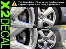 ÉTRIER DE FREIN autocollant décalcomanie pour Audi Quattro anneaux X2