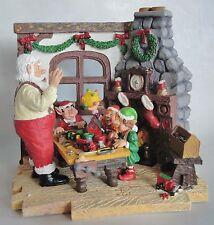SANTA'S WORKSHOP ELVES CHRISTMAS RESIN FIRST Ertl RESIN 50113 CHRISTMAS