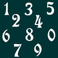 9 cm Zahlen Aufkleber Klebezahlen Ziffern Sticker 1 bis 200 Stück weiß SA-39