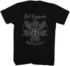 Def Leppard Sheffeild 1977 Adult T Shirt Heavy Metal Music