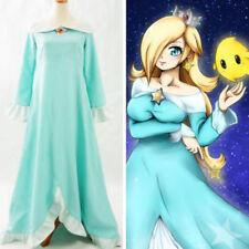 NEW Super Mario Galaxy 2 Rosalina Blue Dress Cosplay costume custom made HH.109