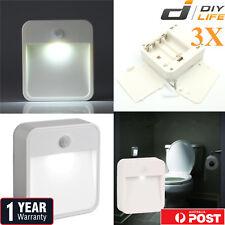 3xMotion Sensor PIR Light Cordless Battery Powered LED Night Light Closet Stair