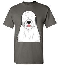 Old English Sheepdog Cartoon T-Shirt Tee - Men Women Ladies Youth Kids Tank Long