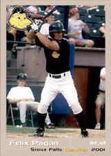 2001 Sioux Falls Canaries Grandstand 17 Felix Pagan Toa Baja Puerto Rico PR Card