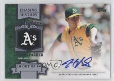2013 Topps Chasing History Autograph #CHA-JP.1 Jarrod Parker Auto Baseball Card