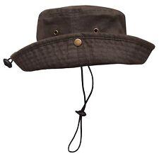 NICE CAPS Men's Distressed and Washed Denim Cotton Adjustable Bucket Hat