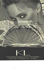 PUBLICITE ADVERTISING 1983 KARL LAGERFELD le parfum