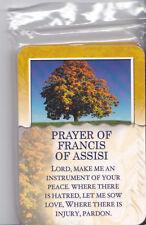 PKG 15  Holy Cards, Prayer of Saint Francis of Assisi, Christian Catholic, Peace